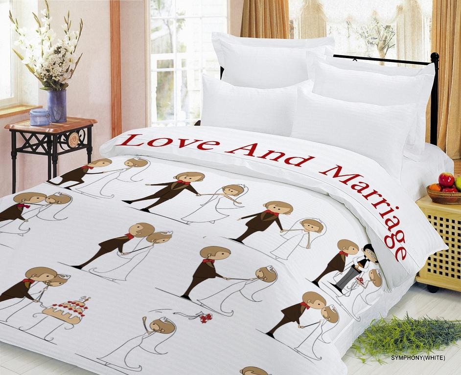 Свадебное постельное бельё в подарок 60